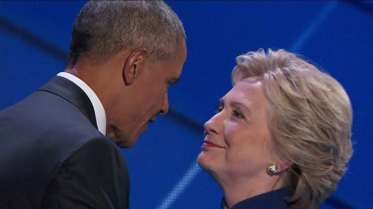 Obama defende Hillary Clinton em discurso e candidata se emociona