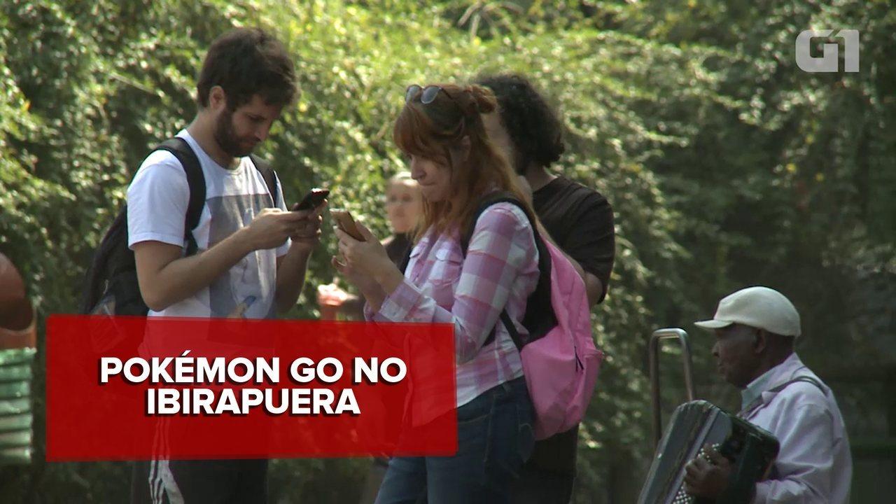 Jogadores de 'Pokémon Go' lotam o Ibirapuera no 1º dia de lançamento do game no Brasil