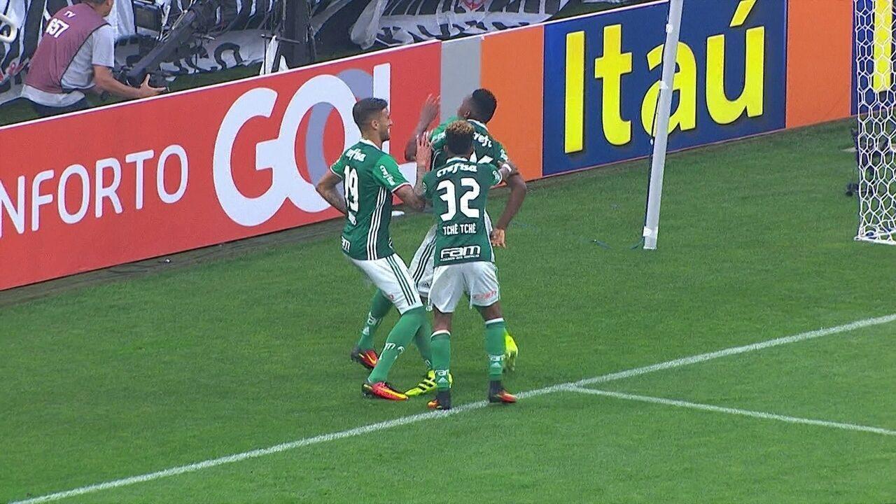 O gol de Mina na vitória por 2 a 0 sobre o Corinthians