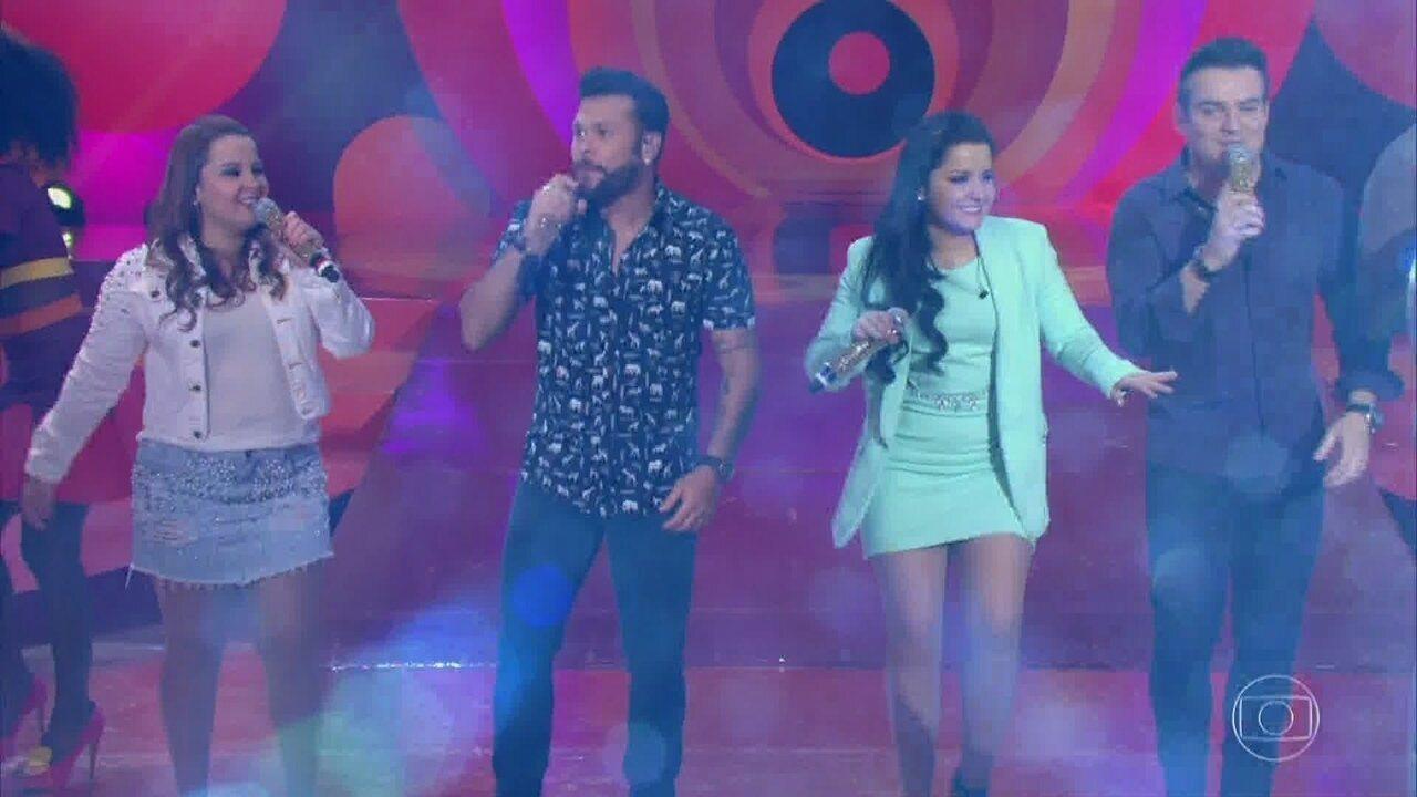Marcos e Belutti e Maiara e Maraisa encerram o programa com o sucesso 'Domingo de manhã'