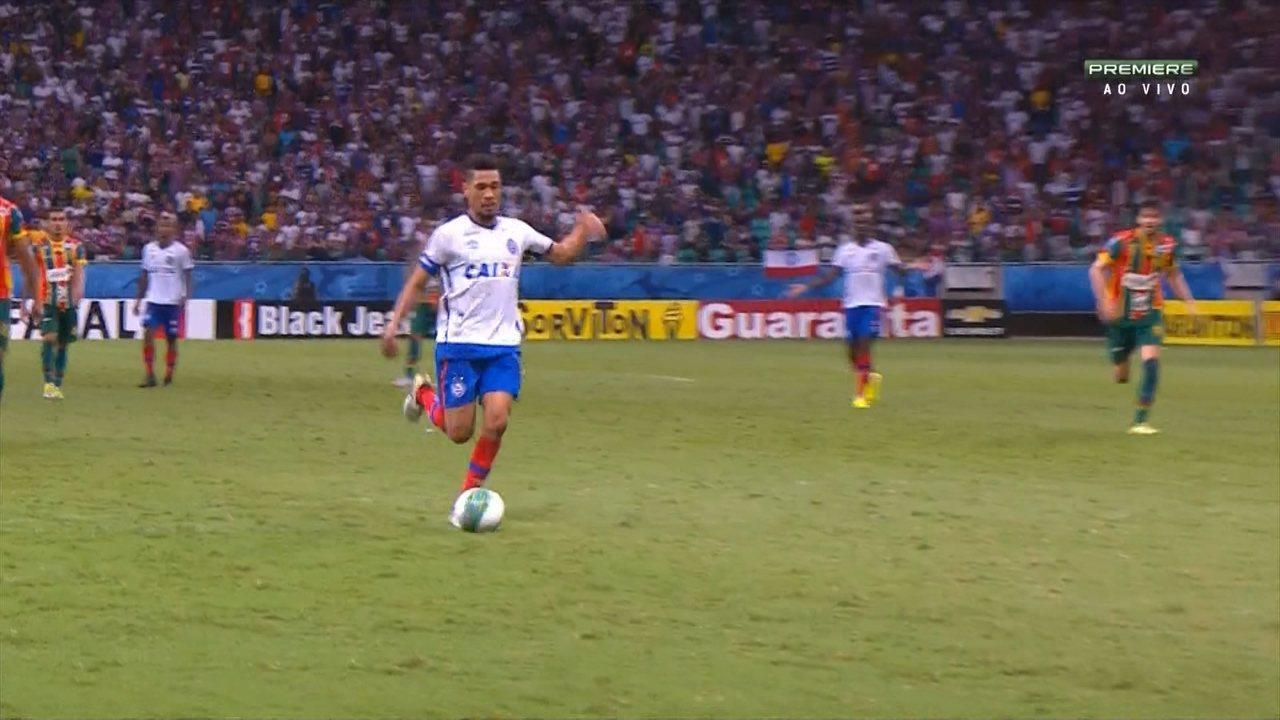 Veja o gol de Bahia 1 x 0 Sampaio Correia