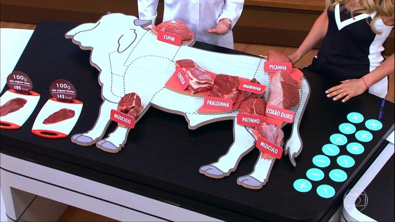 Nutricionista explica quais são os cortes de carne bovina e suína mais saudáveis e os mais gordurosos