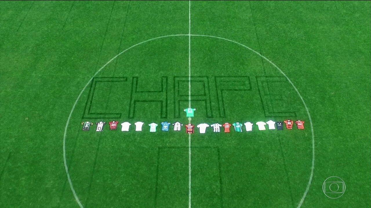 Esporte Espetacular | Na voz de Galvão Bueno, clubes fazem homenagem à Chapecoense