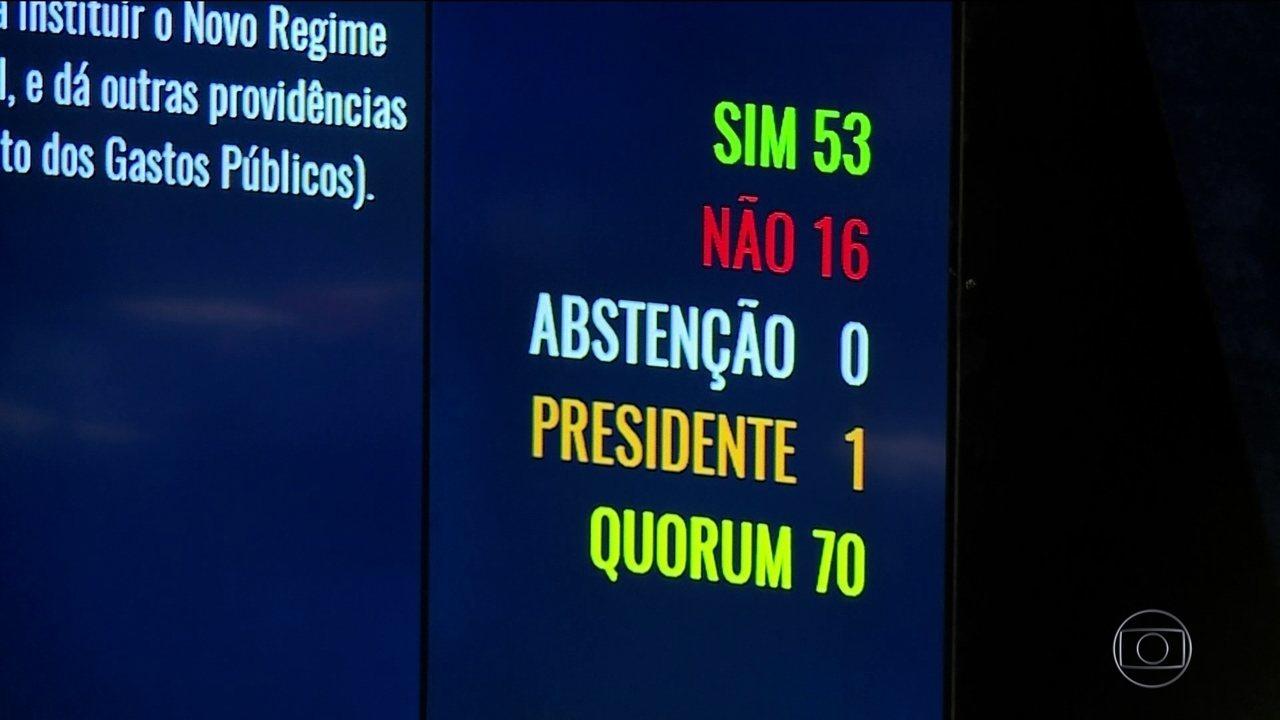 Senado aprova em última votação projeto do teto dos gastos públicos