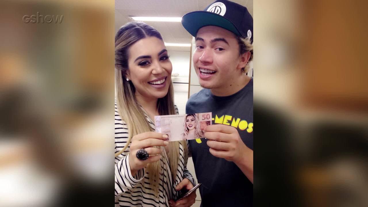 Whindersson Nunes assume Snapchat do Gshow nos bastidores do 'Caldeirão de Ouro'