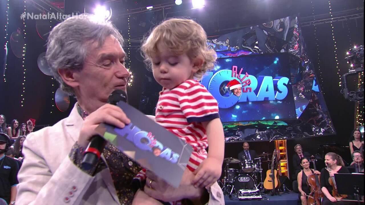 Serginho e filho Thomas. Reprodução/Rede Globo