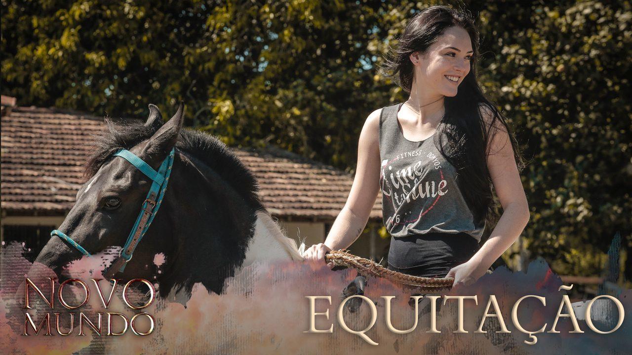 Elenco de 'Novo Mundo' tem aula de equitação para a novela