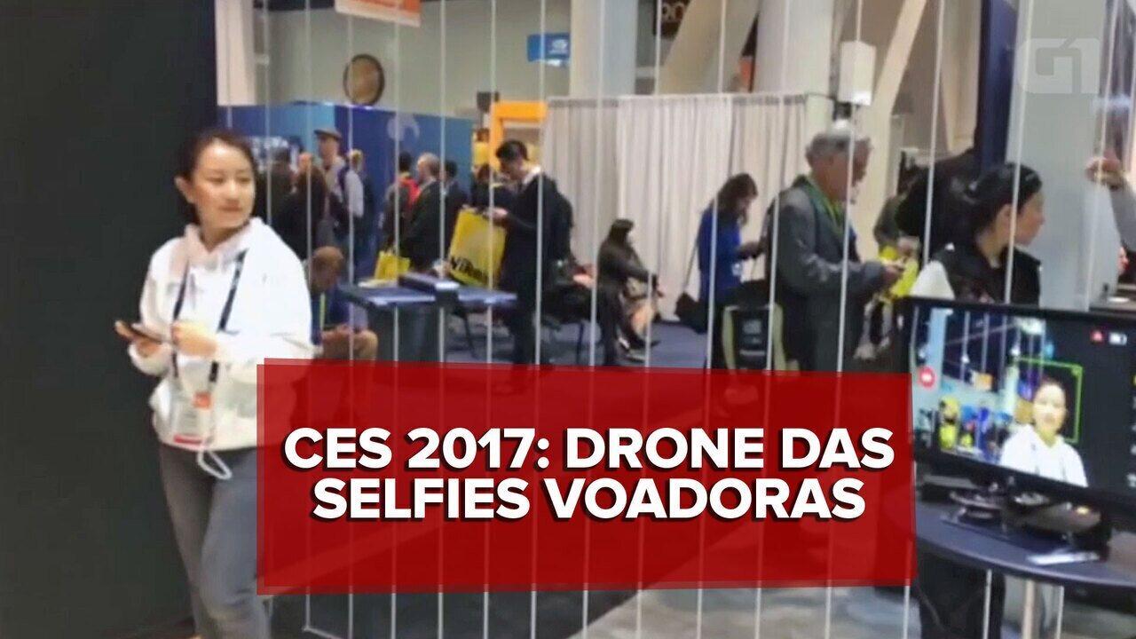 Drone na CES 2017 foi desenvolvido para selfies voadoras