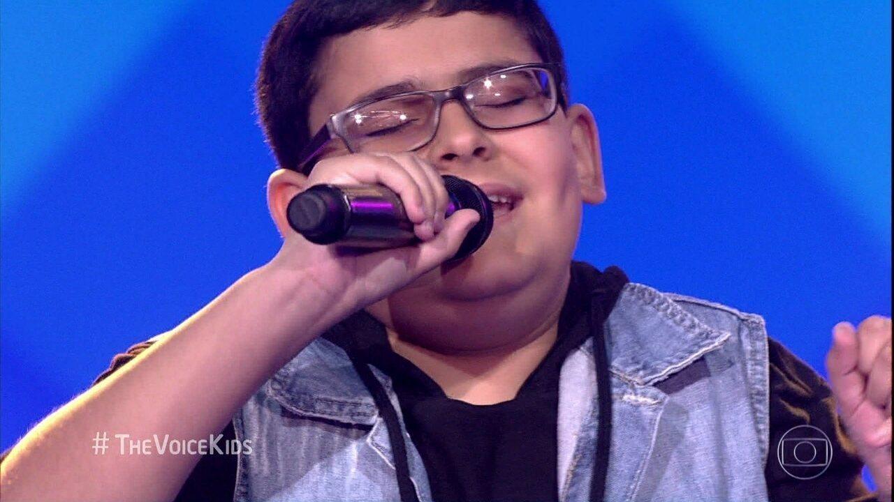 João Vitor Mafra, de 10 anos, canta 'Ben'