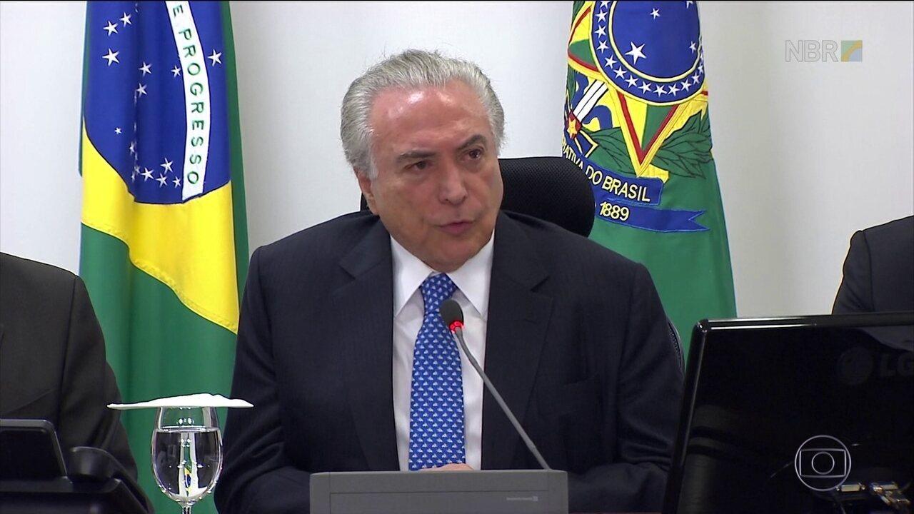 Michel Temer discute o sistema carcerário no Brasil em reunião nessa quarta (11)