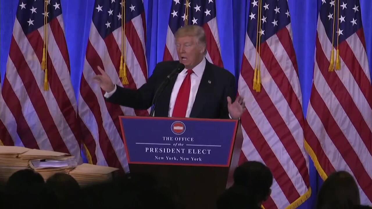 Donald Trump diz que é uma 'desgraça' que informações confidenciais vazem