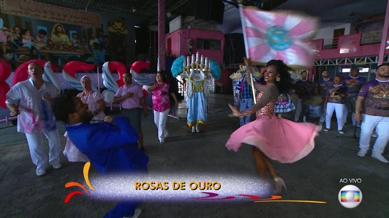 Rosas de Ouro se prepara para o Carnaval