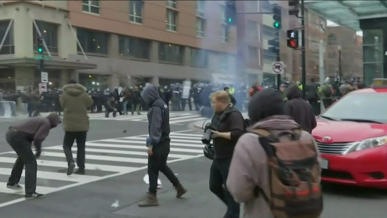 Cerca de 95 pessoas são presas em protestos em Washington