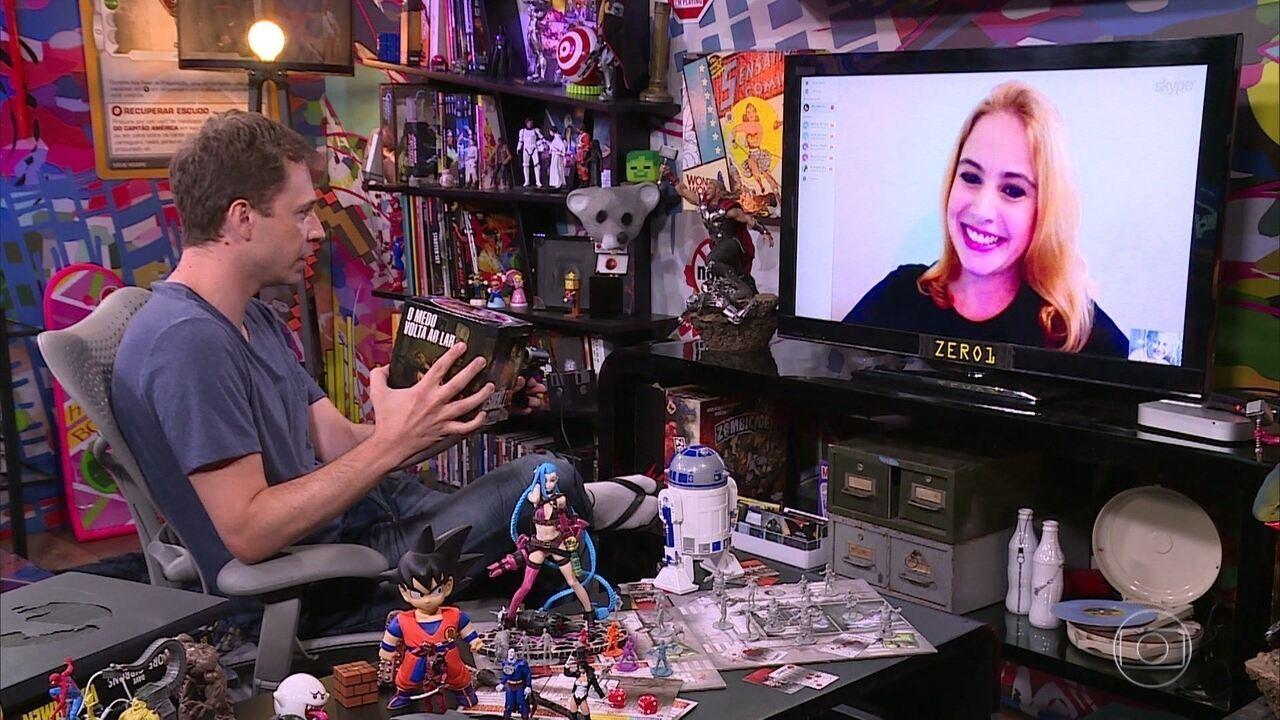Tiago recebe dicas de Monique Alves e joga 'Resident Evil 7'