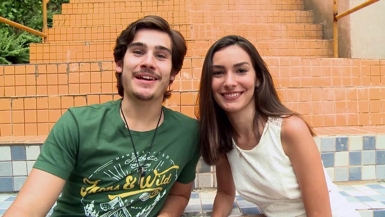 Marina Moschen e Nicolas Prattes comentam primeiro beijo do casal