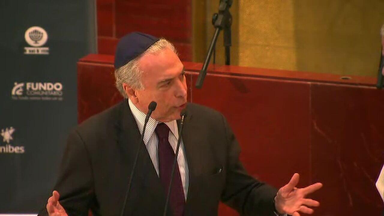 Discurso de Michel Temer em evento em memória às vítimas do Holocausto