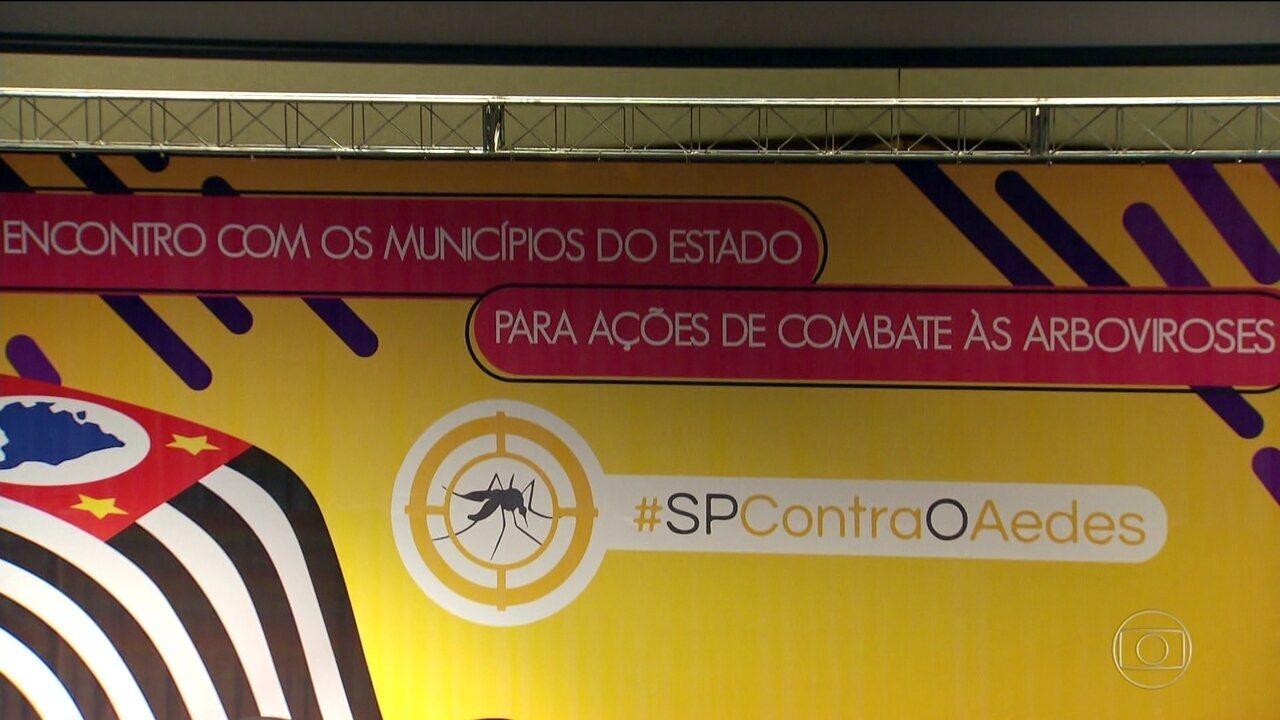 Prefeitos e secretários municipais de saúde discutem o combate ao Aedes Aegypti.
