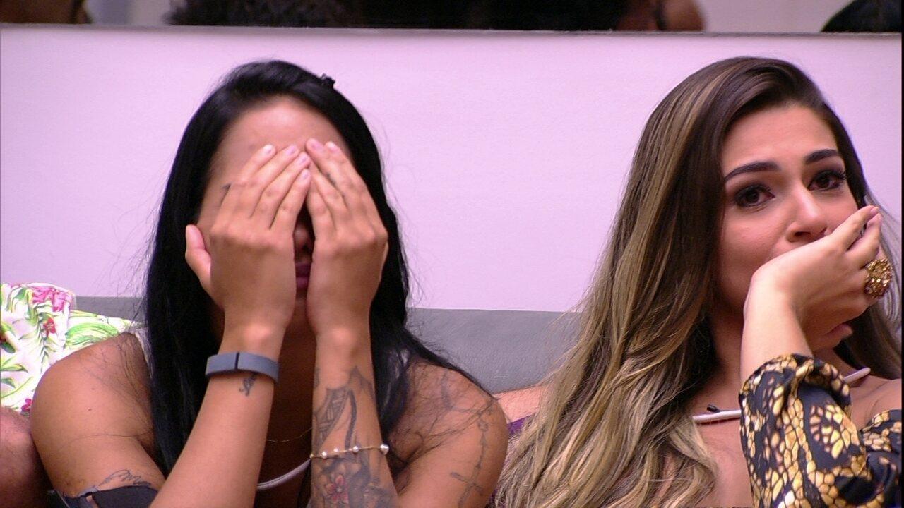 Vivian e Mayara quando descobriram que se enfrentariam no segundo Paredão do BBB17