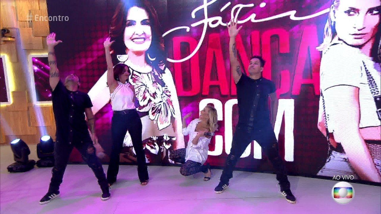 Fátima Bernardes dança 'Taquitá' com Claudia Leitte