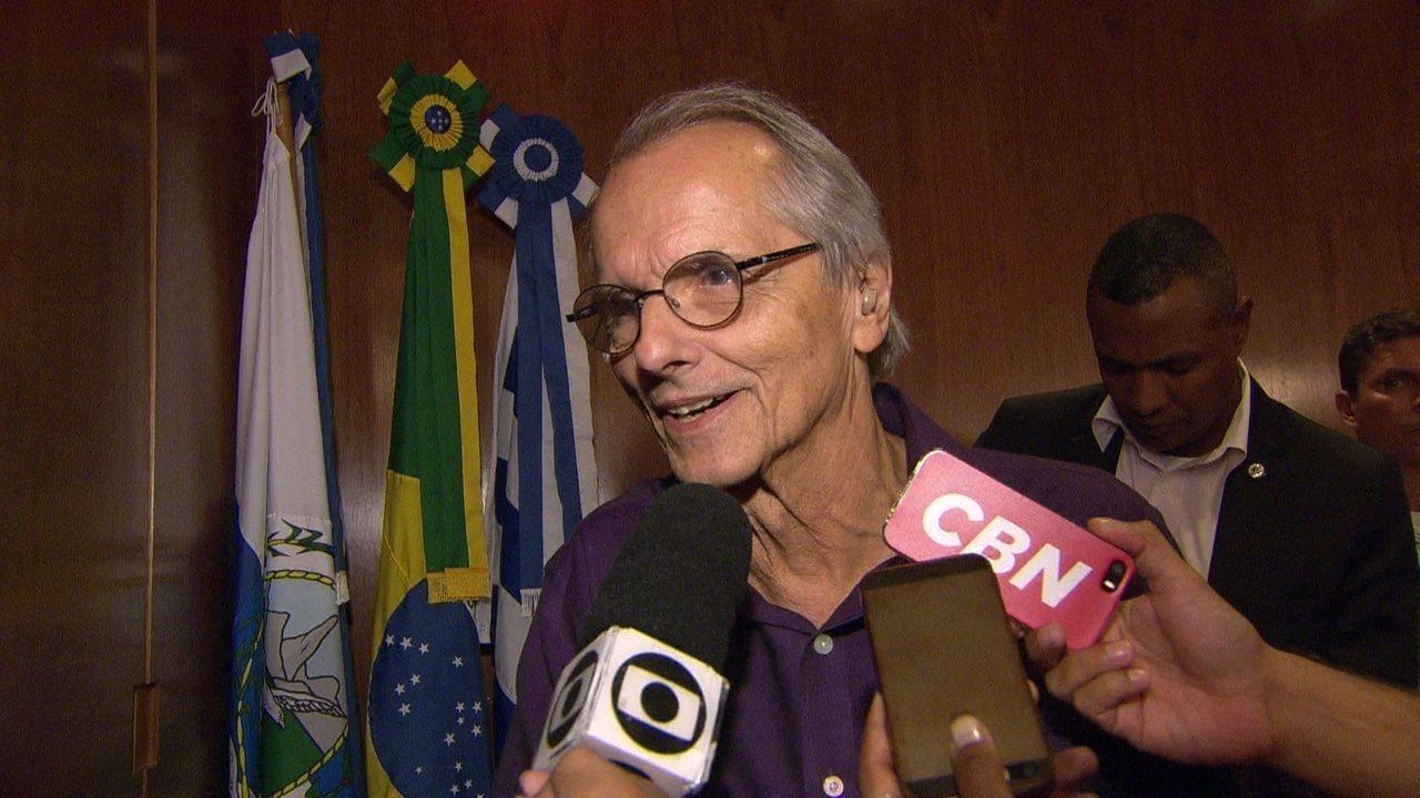 Secretário de Transportes do Rio fala sobre privatizar a Linha Vermelha (Imagens: TV Globo)