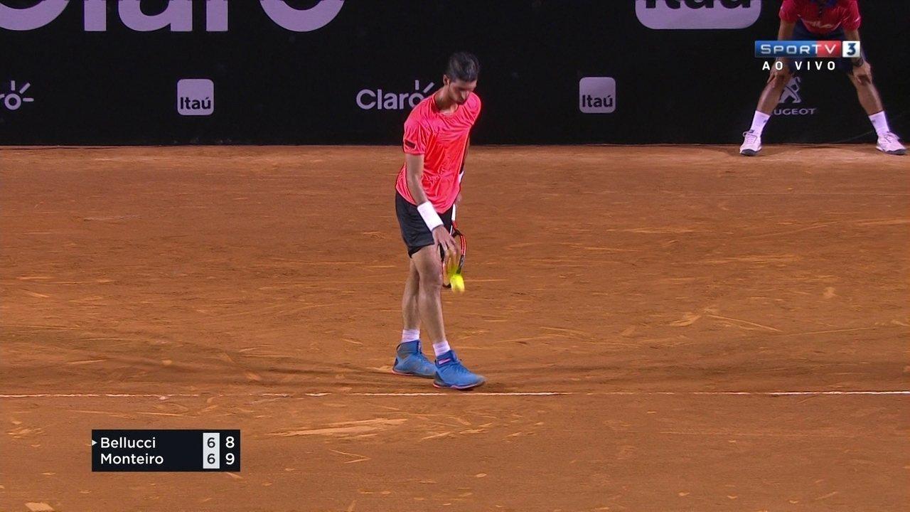 Os pontos finais de Thomaz Bellucci 1 x 2 Thiago Monteiro pela 2ª rodada do Rio Open