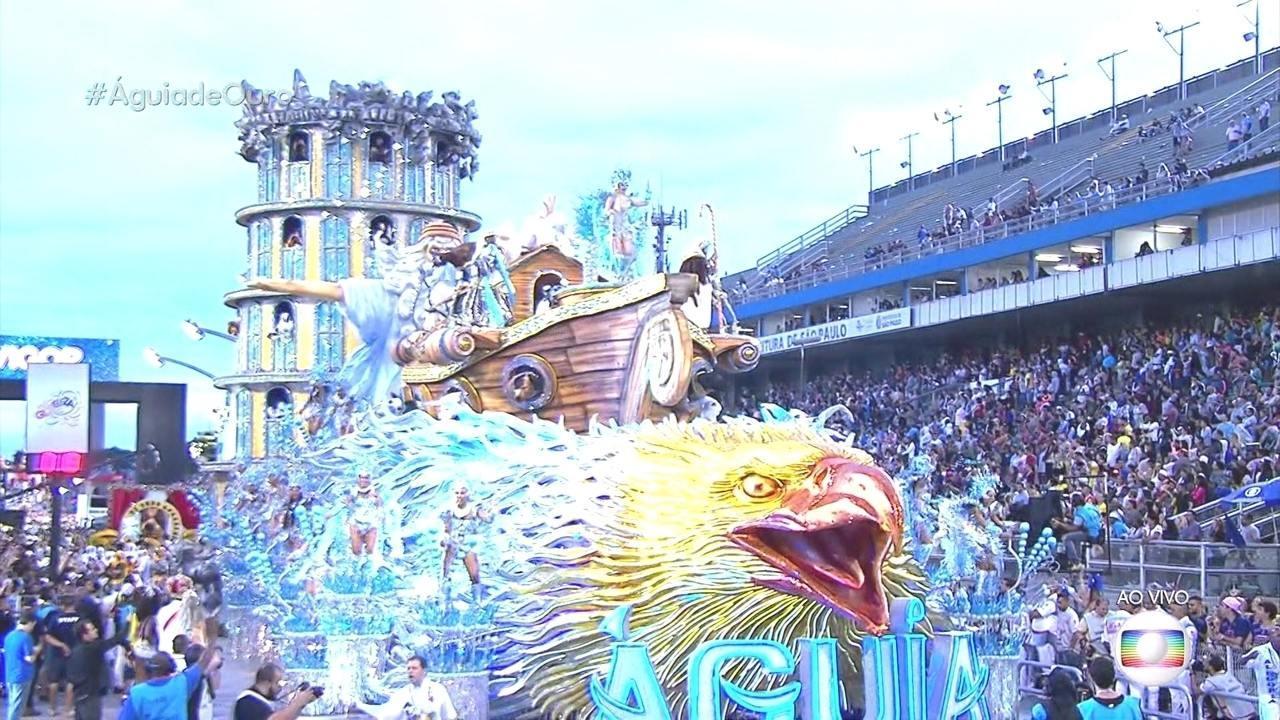 Abre-alas da Águia de Ouro traz a Arca de Noé, que não inclui o cachorro entre os animais