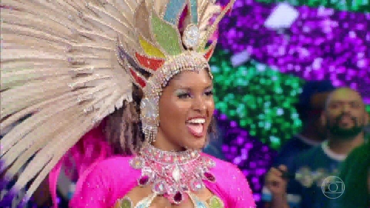 Representante da Mangueira foi a última finalista a se apresentar no palco do 'Caldeirão'