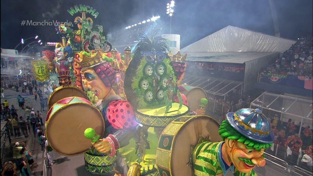 Abre-alas da Mancha Verde representa grande cortejo de Carnaval