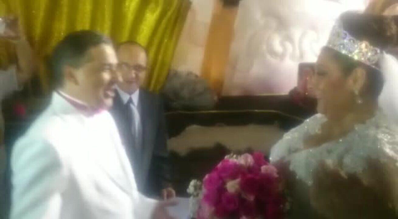 VÍDEO: Presidente da Rosas de Ouro se casa no Sambódromo do Anhembi