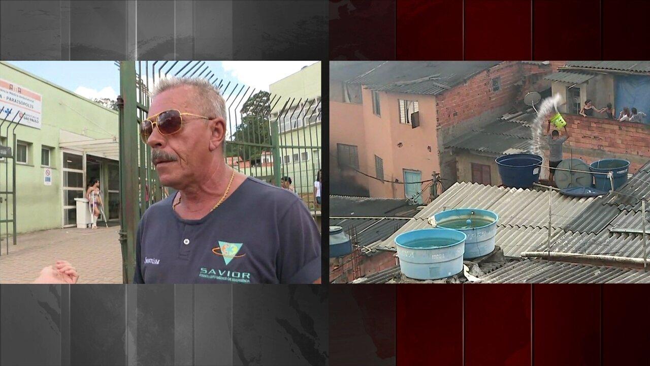 Grande incêndio atinge a favela de Paraisópolis em São Paulo