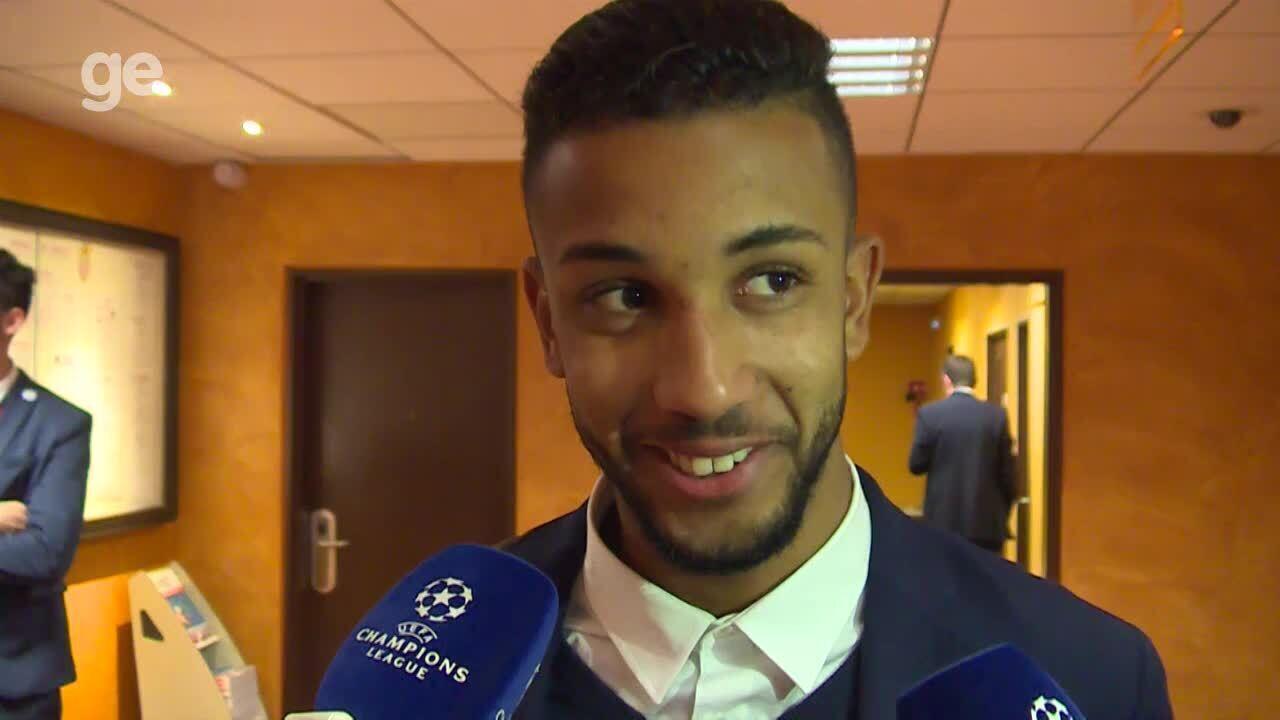 Jorge fala na zona mista após classificação do Monaco na Champions
