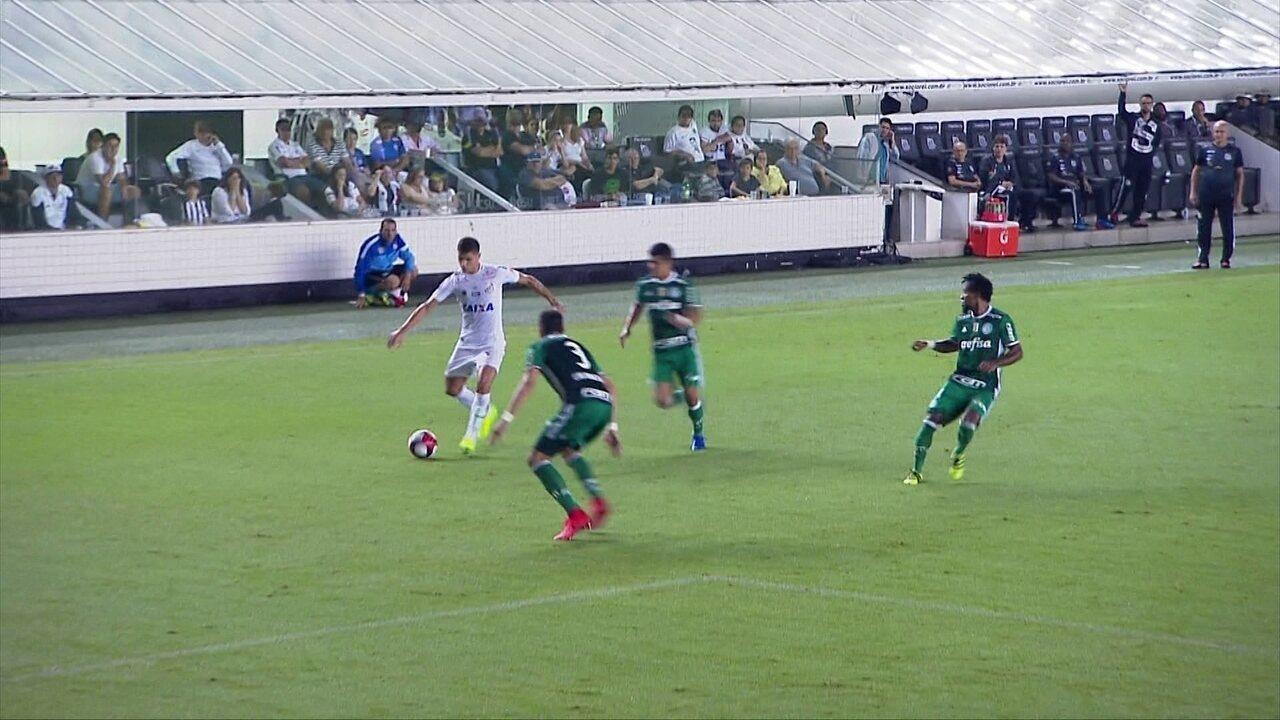 Melhores momentos de Santos 1 x 2 Palmeiras pela 9ª rodada do Campeonato Paulista