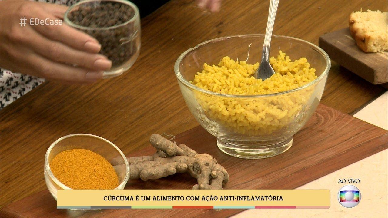 Nutricionista Mariana Ferri mostra o valor nutricional da cúrcuma e do gengibre
