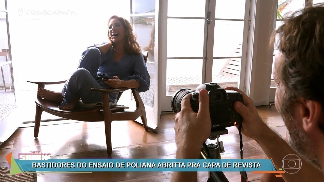 Poliana Abritta posa para capa de revista