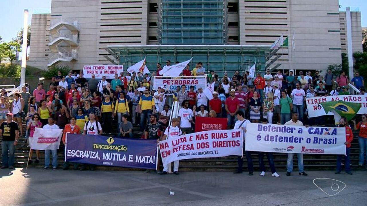 3d653946397 Vitória tem protesto contra a reforma da previdência e terceirização ...