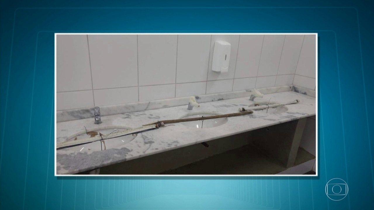 Banheiros do Parque do Ibirapuera são alvos de vandalismo após inauguração