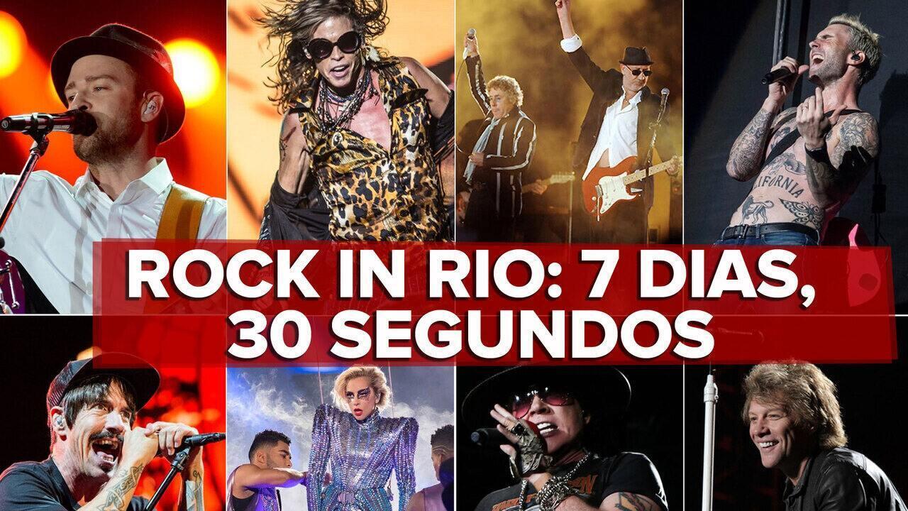 Rock in Rio em 30 segundos: G1 resume em vídeo cada dia do line-up do festival