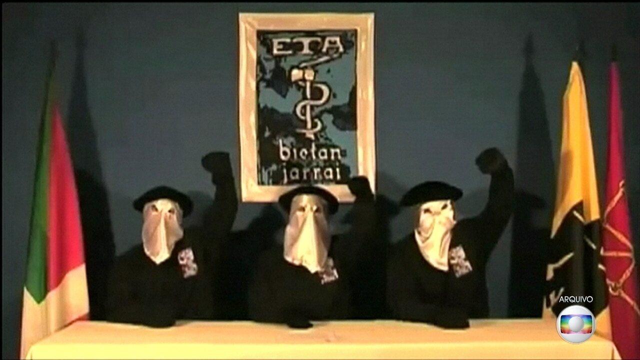 Grupo separatista ETA anuncia que vai revelar locais secretos onde ainda mantém armas