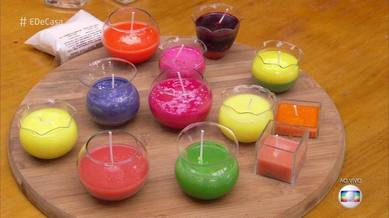 Cristiane Lacerda mostra como fazer sabonete e velas usando óleo de cozinha descartado
