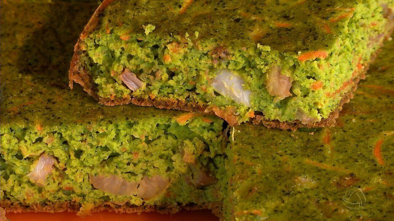 Aprenda a fazer torta verde de cabotiã. Receite leve e deliciosa