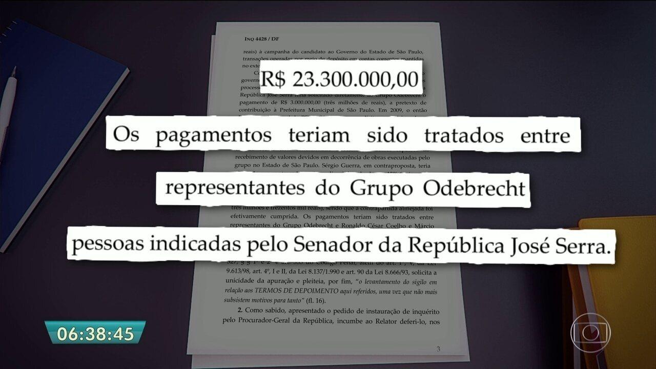 José Serra e Aloysio Nunes estão entre os citados em delações da Odebrecht