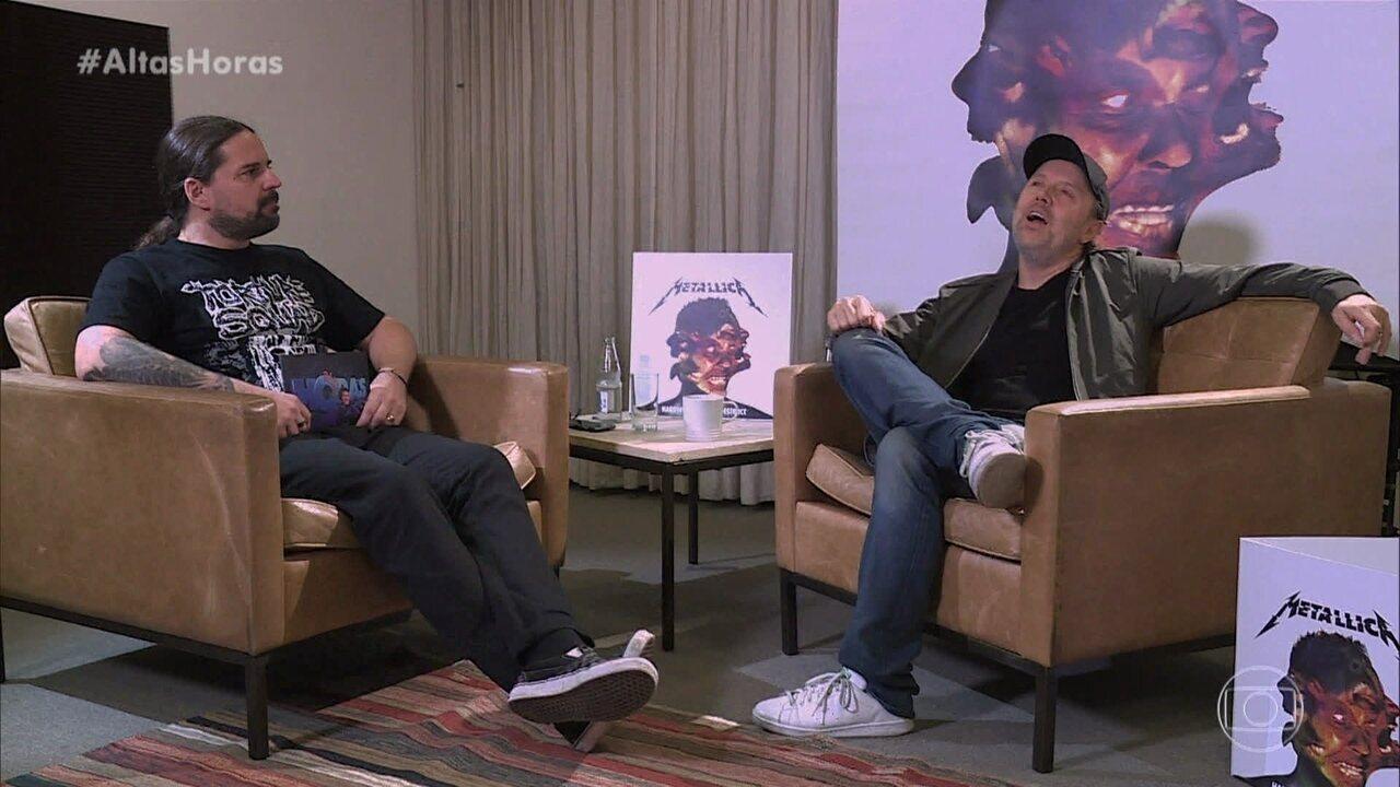 Andreas Kisser entrevista Lars Ulrich, baterista do Metallica