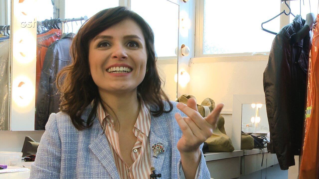 Monica Iozzi comenta estilo de Celeste em 'Vade Retro'