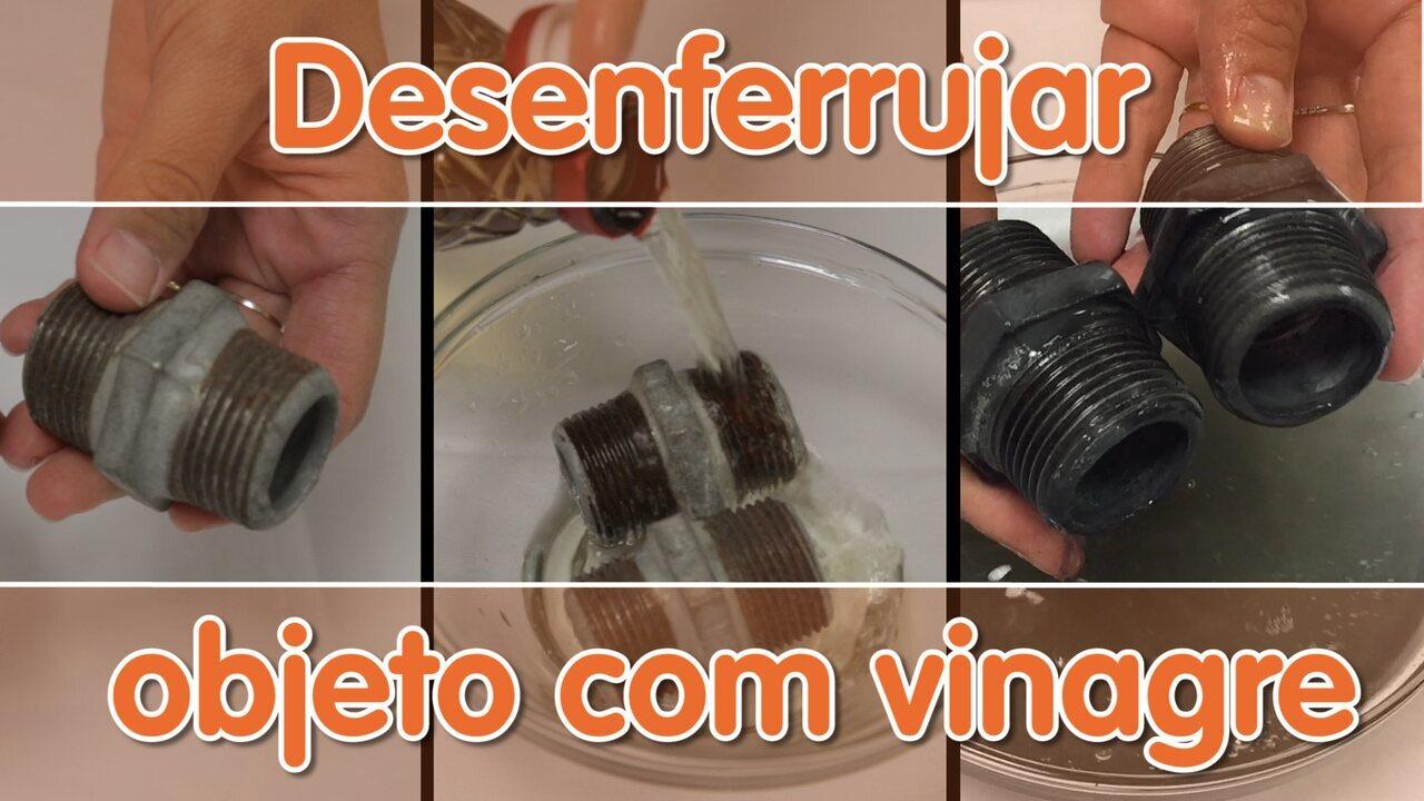 Desenferrujar objeto com vinagre - Como Fazer