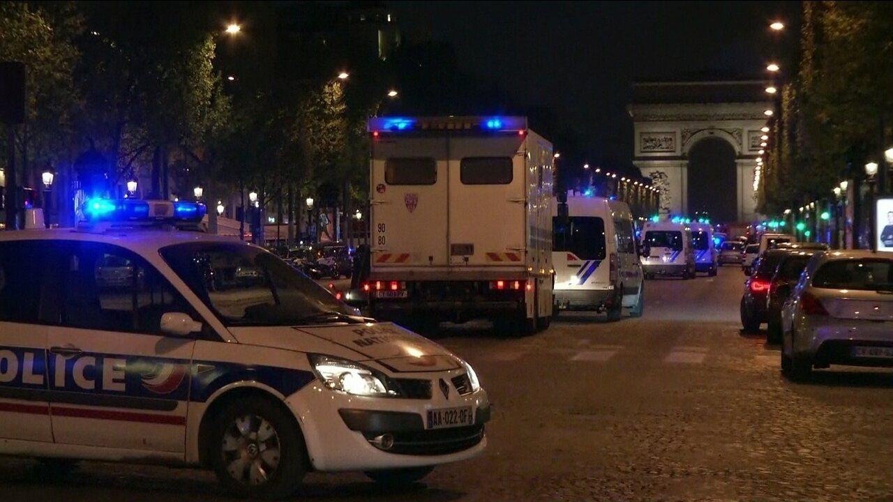 Tiroteio leva pânico à área da Champs-Elysées, em Paris
