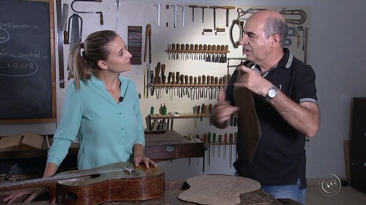Aluno do Conservatório de Tatuí cria violão usando apenas papel