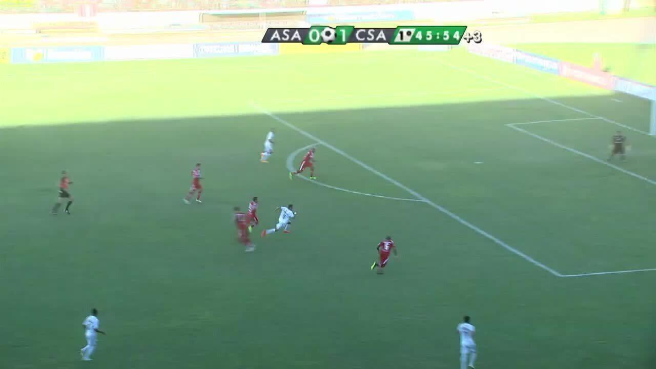 Gol do Murici! Tarcísio marca o gol de empate, aos 19' do primeiro tempo