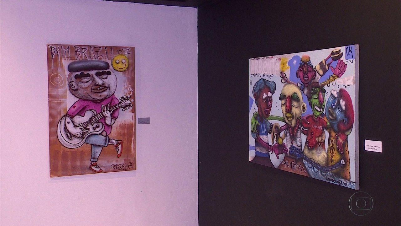 Grafiteiro Galo de Souza expõe obras inéditas no Sesc Casa Amarela
