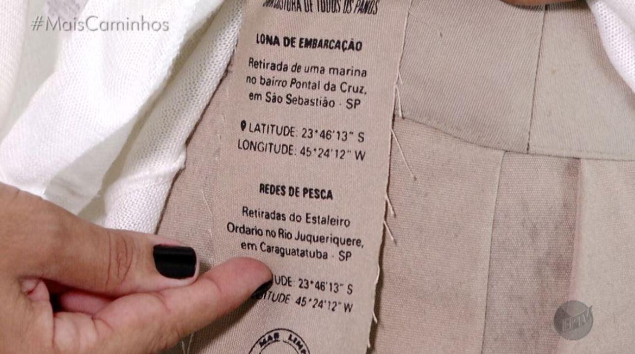 Aline Lima conheceu estilistas que produzem peças de roupas com materiais reaproveitáveis