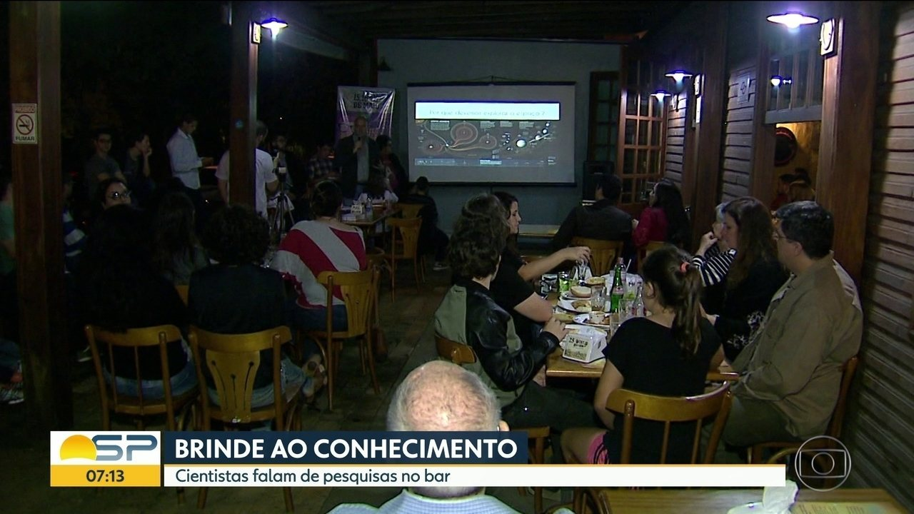 Evento discute ciência em bares, cafés e restaurantes de SP